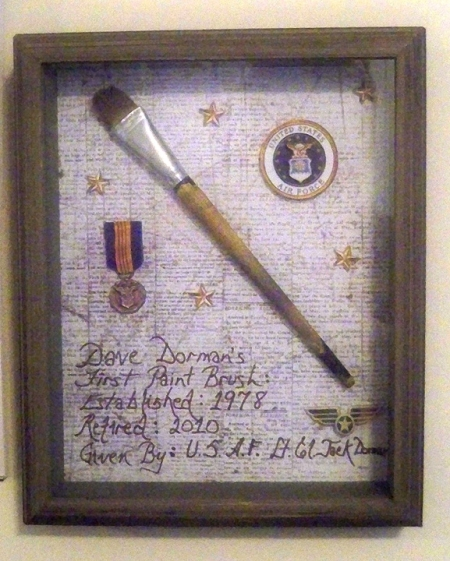 Shadow Box of Dave Dorman's 1st Pain Brush