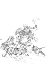 Pencil Rough #3 by Dave Dorman