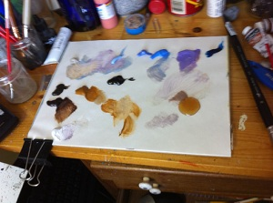 Dave Dorman palette for Frazetta Tribute painting