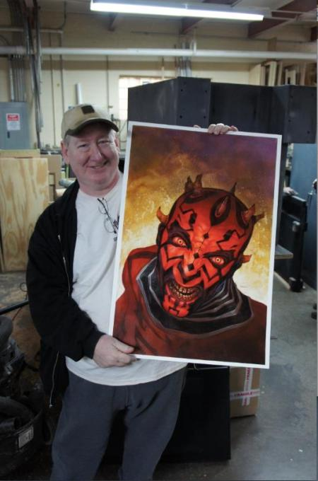 Dave Dorman Darth Maul cover for Dark Horse Comics