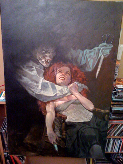 Color version of Dave Dorman WildClaw Theatre painting