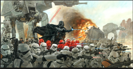 Dave Dorman's Star Wars Painting: Lord Vader's Persuasion of the Outer Rim